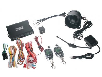 SPY 2-WAY CAR autoalarm, 2 x LCD ovladač - spy22
