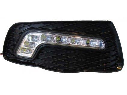 x LED světla pro denní svícení Mercedes C W204 2007-10, ECE - drlMC01/1