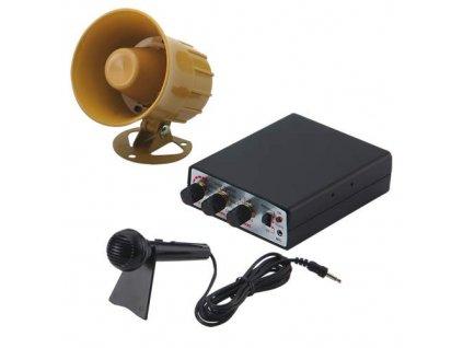 Hobby zvukový systém 10W (35 variant zvuků zvířat a sirén + mikrofon) SI-735-12v
