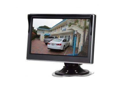 """LCD monitor 5"""" černá/stříbrná s přísavkou s možností instalace na HR držák - 80062"""