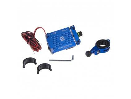 Univerzální držák pro telefony na kolo, motocykl s USB nabíječkou - r12usb