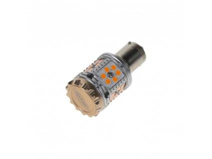 LED BA15s oranžová, CAN-BUS, 12-24V, 30LED/3030SMD - 95CB102ora
