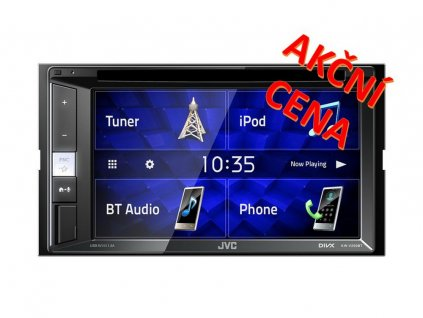 "JVC 2DIN autorádio/6,2"" displej/CD/DVD/USB/AUX/Bluetooth - KW-V250BT"