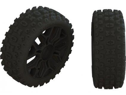 Arrma kolo s pneu 2HO černá (2) - ARA550057