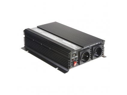 Měnič napětí z 24/230V + USB, 1600W - 351624