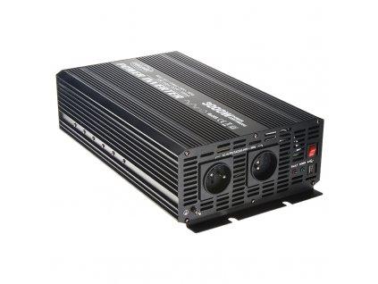 Měnič napětí z 24/230V + USB, 3000W - 353024