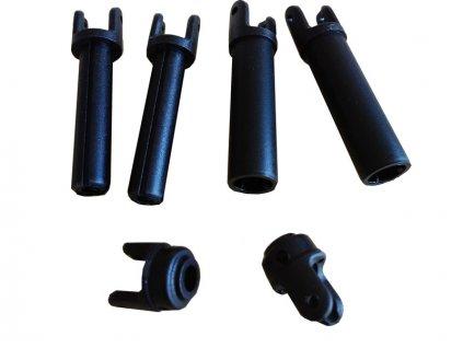 ECX Hřídel dlouhá plast HD (2) - ECX232002
