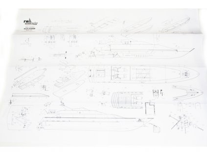 ROMARIN San Diego Mega jachta kit - KR-ro1045