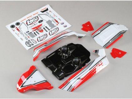 Losi karosérie červená: Tenacity DB - LOS230051