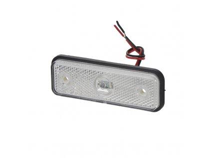 Přední obrysové světlo LED, bílý obdélník, ECE R91 - kf661E