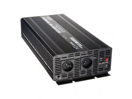 Měnič napětí z 24/230V + USB, 5000W - 355024