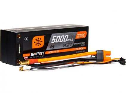 Spektrum Smart LiPo 14.8V 5000mAh 100C Short HC - SPMX50004S100HT