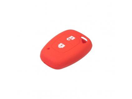 Silikonový obal pro klíč Renault, 2-tlačítkový, červený - 481RN103red