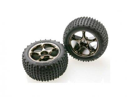 """Traxxas kolo 2.2"""", disk Tracer černý chrom, pneu Alias (2) - TRA2470A"""
