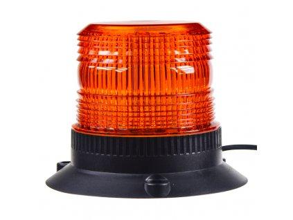 Zábleskový maják, 12-24V, oranžový magnet, - wl19