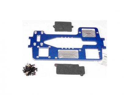 Traxxas šasi 4mm 75075-T6 hliníkové modré - TRA4922X