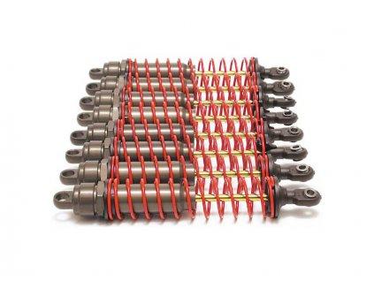 Traxxas tlumič Big Bore XX-long hliník/PTFE, pístnice TiN (8) - TRA4962