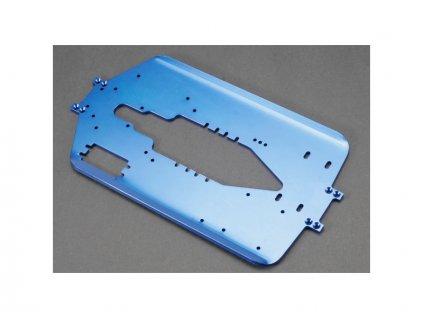 Traxxas šasi 4mm hliníkové modré (delší rozvod): T-Maxx - TRA5122X