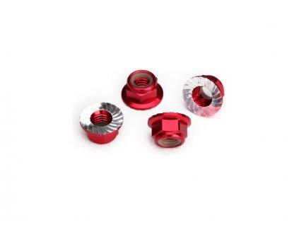 Traxxas matice M5 samojistná s límcem červená (4) - TRA8447R