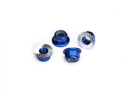 Traxxas matice M5 samojistná s límcem modrá (4) - TRA8447X