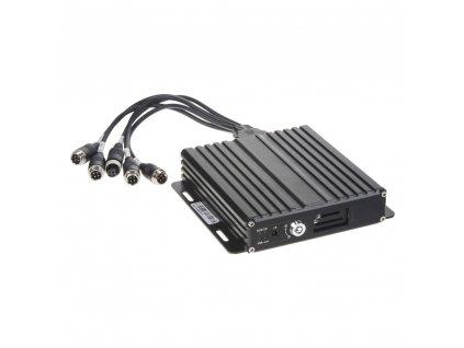 Černá skříňka pro záznam obrazu ze 4 kamer, GPS, 1x slot SD - dvrb41c-1