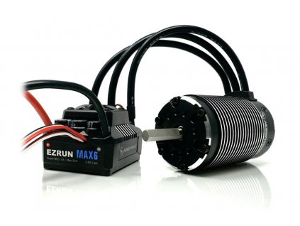 COMBO MAX6 s EZRUN 5687 1100Kv - černý - HW38010802