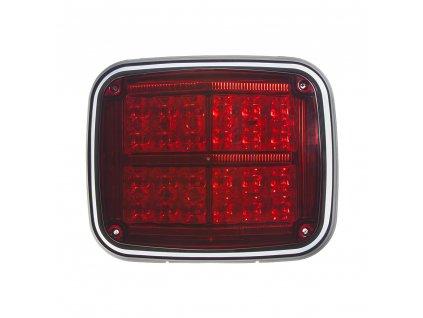 Výstražné LED světlo obdélníkové, 12/24V, červené - kf027red