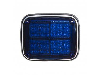 Výstražné LED světlo obdélníkové, 12/24V, modré - kf027blu