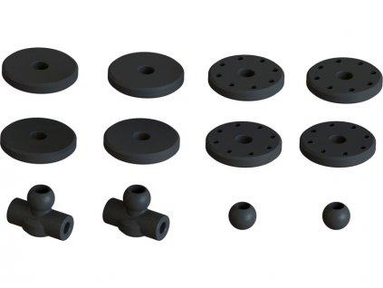 Arrma tlumič 16x133mm s olejem 1000cSt (2) - ARA330622