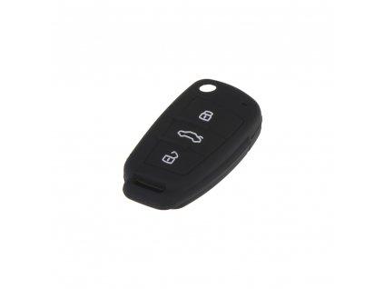 Silikonový obal pro klíč Audi 3-tlačítkový, černý - 481AU106bla