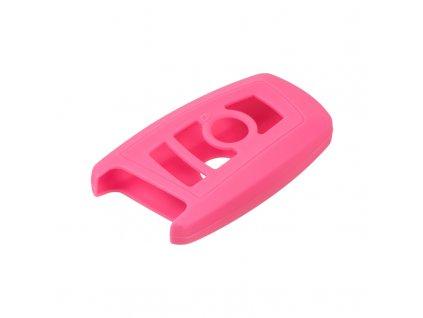 Silikonový obal pro klíč BMW 5, 7 3-tlačítkový, růžový - 481BW108pin