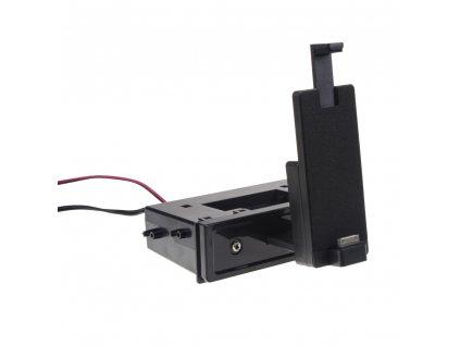 univerzální plastová přihrádka do otvoru DIN s držákem na iPhone4/4S - 11070M