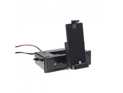 univerzální plastová přihrádka do otvoru DIN s držákem na iPhone5/5S/5C/6/6S/7/8/X/Xs - 11071M