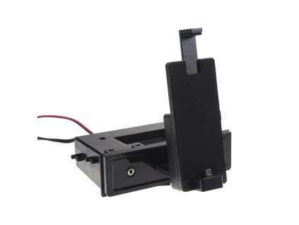 univerzální plastová přihrádka do otvoru DIN s držákem pro telefon s micro USB - 11072M
