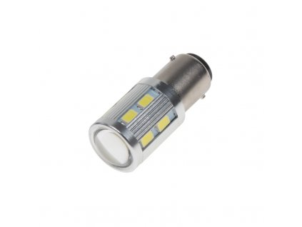LED BA15d (jednovlákno) bílá, 12-24V, 16LED/5730SMD - 95281