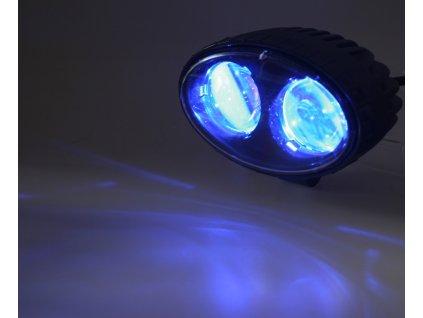 PROFI LED výstražné bodové světlo 10-48V 2x4W modré 143x122mm, ECE R10 - wa-008b