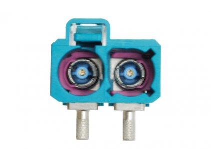 Anténní konektor dvojitý FAKRA samice 90° - 295641