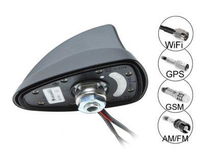 SHARK 2 QUAT AM/FM+WIFI+GPS+GSM anténa - 7727075