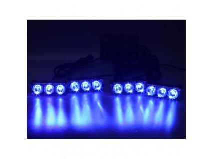 PREDATOR LED vnější bezdrátový, 12x LED 1W, 12V, modrý - kf326Wblu
