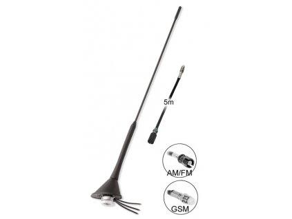 GSM + AM/FM antena stresni