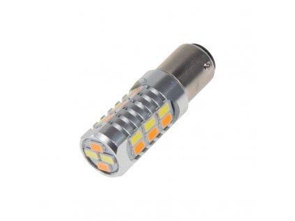 LED BAY15d (dvouvlákno)  dual color, 12-24V, 22LED/5630SMD - 95158
