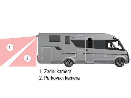 Univerzalni dvojita zadni parkovaci kamera