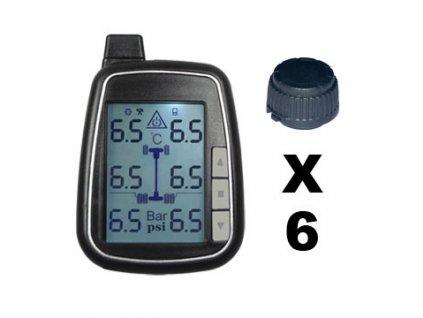 TPMS kontrola tlaku v pneumatice 6 externích čidel - tpms601
