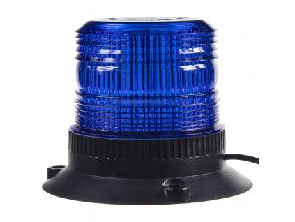 Zábleskový maják, 12-24V, modrý magnet, ECE R10 - wl19blu
