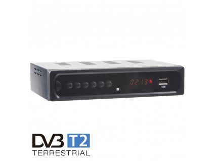 DVB-T2 / HEVC / H.265 set-top box / multimediální přehrávač s USB / SCART / HDMI / RJ45 / PWR - dvb-t2h1