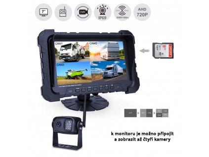 """SET bezdrátový digitální kamerový AHD systém, monitor 7"""" s možností nahrávání - cw3-dset7AHDdvr"""