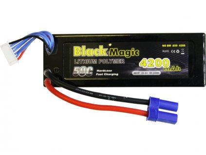 Black Magic LiPol Car 22.2V 4200mAh 50C EC5 - BMA50-4200-6E