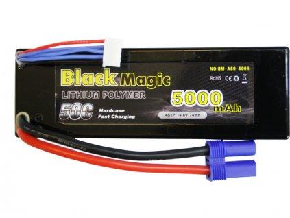 Black Magic LiPol Car 14.8V 5000mAh 50C EC5 - BMA50-5000-4E