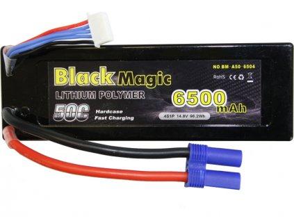 Black Magic LiPol Car 14.8V 6500mAh 50C EC5 - BMA50-6500-4E