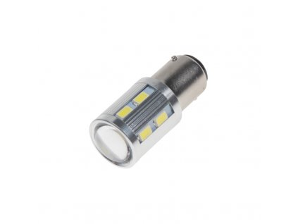 LED BA15D bílá, 12SMD 5630 + 3W LED 10-30V - 95C-BA15D-3